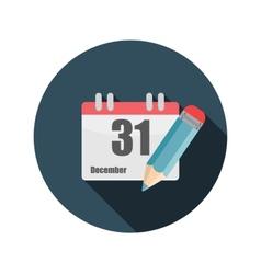Flat design concept calendar with long shado vector