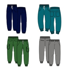 Four pants vector