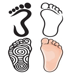 Foot collection resize vector
