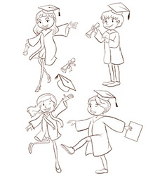 A graduation ceremony vector