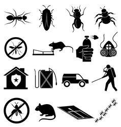 Exterminator icons set vector