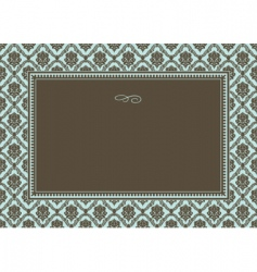 Damask pattern and frame vector