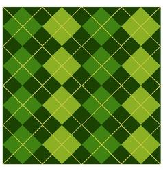 Argyle green design vector