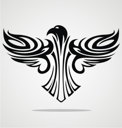 Flying eagle tribal vector