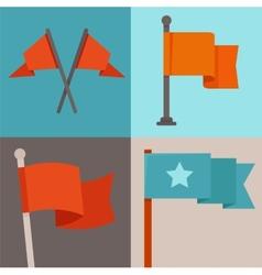 Set of flag design elements vector