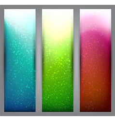 Set of blurry vibrant banners vector