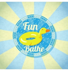 Summer fun sea rubber duck vector