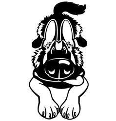 Doggy black white vector