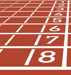 Track lane numbers vector