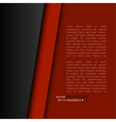 Background of red and black strips vector