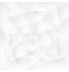 Abstract white triangle polygonal background vector