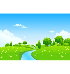 Green city landscape vector