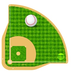 Baseball field field with real grass textured vector