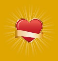 Retro heart vector