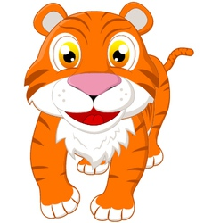 Cute tiger standing vector