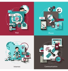 Communication design concept set vector