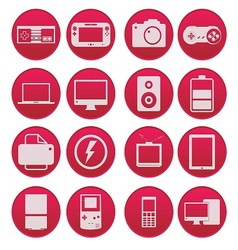 Electronic technology device icon gradient style vector