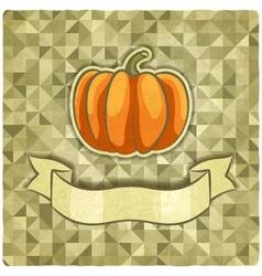Pumpkin on geometric background vector