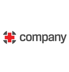 Red cross for healthcare logo vector