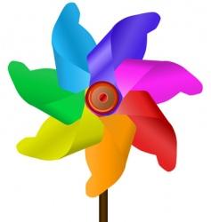 Windmill colors vector