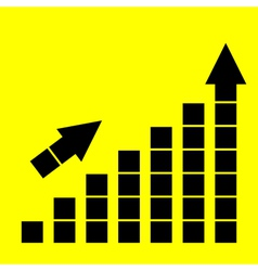 Icon growth chart vector