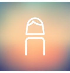 Female thin line icon vector