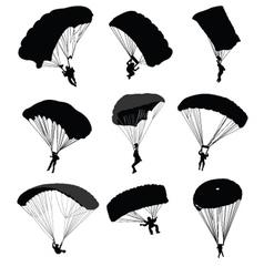 Parachuting vector