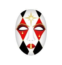 Carnival mask on a white background vector