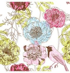 Floral art wallpaper vector