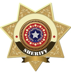 Sheriff badges vector