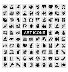 Art icons set vector