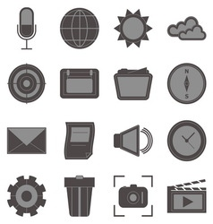 Create function icons on white background vector