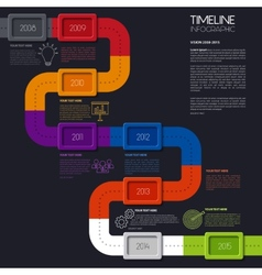 Timeline infographic modern simple design vector