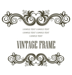 Vintage framing header and footer vector
