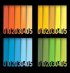 Abstract layout set vector