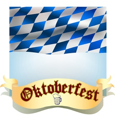 Oktoberfest banner with flag vector