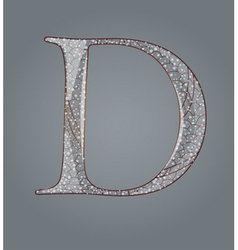 Abstract letter d vector