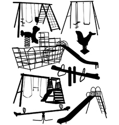 Childrens playground equipment vector