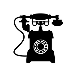 Vintage telephone with mouthepiece handset vector