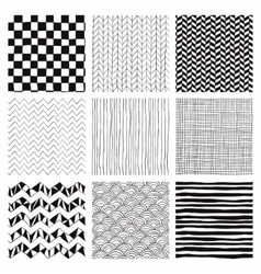 Abstract hand drawn seamless background patterns vector