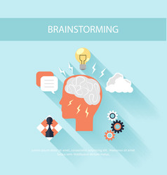 Brainstorm process concept in flat design vector