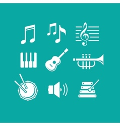 Music icons for app vector