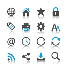Web icons reflection vector