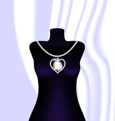 Jewel necklace vector
