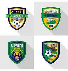 Soccer world championship emblem superior team vector