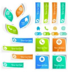 Contact element set for design vector