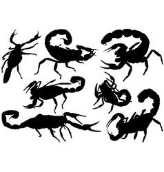 Scorpion silhouettes vector
