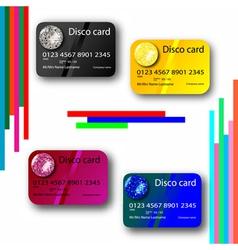 Credit card disco vector
