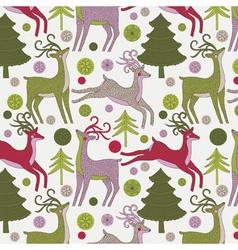 Deer xmas print vector