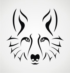 Wolf face tattoo vector